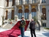 In fata palatului lui Gigi Becali