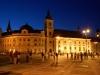 Sibiu - Piata Mare - Primaria si Biserica Catolica - noaptea