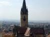 Sibiu - Vedere din Turnul Sfatului (se vede turunul bisericii evangheliste)
